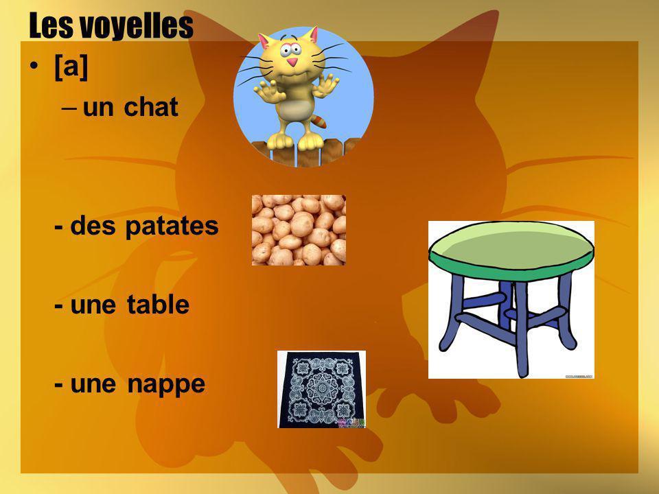 Les voyelles [a] un chat - des patates - une table - une nappe